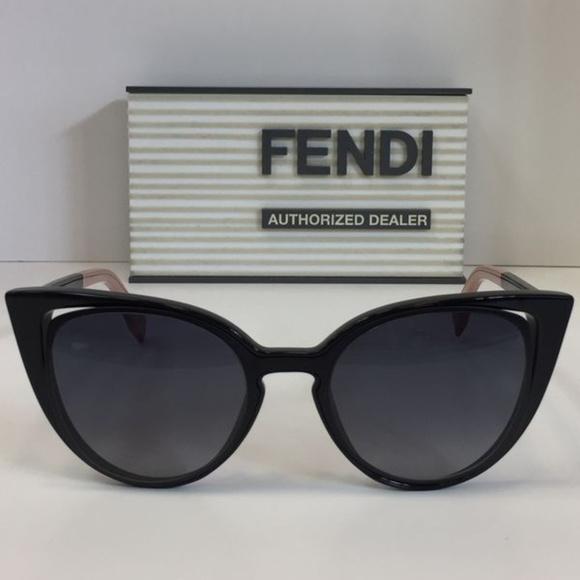 38d6a20078b New Fendi FF 0136 S NY1HD black plastic Cateye Sun